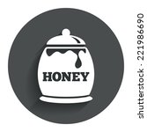 honey in pot sign icon. sweet...