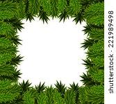 christmas frame of fir branches   Shutterstock . vector #221989498