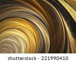 Golden Circle Fractal Background