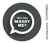 will you marry me speech bubble ... | Shutterstock .eps vector #221990803