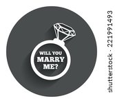 will you marry me ring sign...   Shutterstock .eps vector #221991493