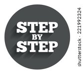 step by step sign icon....