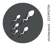 sperm sign icon. fertilization...