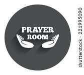prayer room sign icon. religion ...