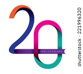 20 years anniversary vector | Shutterstock .eps vector #221996320