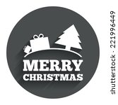 merry christmas gift sign icon. ...