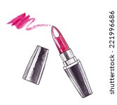 lipstick. watercolor beauty ... | Shutterstock .eps vector #221996686