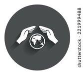 worldwide insurance sign icon....