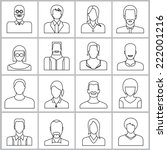 people icons set  office people ... | Shutterstock .eps vector #222001216
