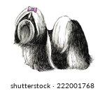 image of shih tzu   hand drawn... | Shutterstock .eps vector #222001768