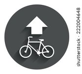 bicycle path trail sign icon....