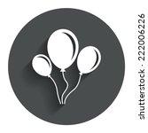 balloon sign icon. birthday air ...