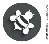 bee sign icon. honeybee or apis ...