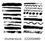 vector set of grunge paint... | Shutterstock .eps vector #222006880