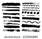 vector set of grunge paint... | Shutterstock .eps vector #222006880