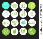 sticker label natural products... | Shutterstock .eps vector #222007930