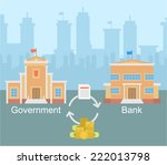 government bank business... | Shutterstock .eps vector #222013798