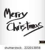 handwritten calligraphic black... | Shutterstock .eps vector #222013858