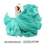 woman dancing in fashion dress  ... | Shutterstock . vector #222014749