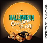 halloween costume party invite... | Shutterstock . vector #222026908