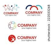 Social relationship logo, vector illustration
