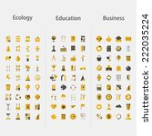 big set of icons   ecology ... | Shutterstock .eps vector #222035224