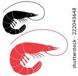 shrimp. abstract shrimp on...   Shutterstock .eps vector #222043648