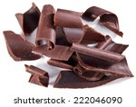 chocolate blocks isolated on a... | Shutterstock . vector #222046090