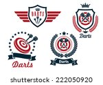 darts heraldry emblems with... | Shutterstock .eps vector #222050920