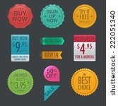 call to action badges and labels | Shutterstock .eps vector #222051340