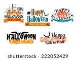 halloween scary banners in...   Shutterstock .eps vector #222052429