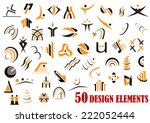 fifty abstract design elements...