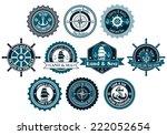 circle marine heraldic labels...