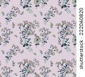 seamless floral pattern...   Shutterstock . vector #222060820