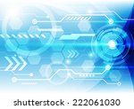 abstract technology concept... | Shutterstock .eps vector #222061030