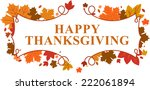 happy thanksgiving day leaves... | Shutterstock .eps vector #222061894