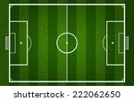 vector green soccer field or... | Shutterstock .eps vector #222062650