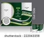 perfect tri fold golf brochure  | Shutterstock .eps vector #222063358