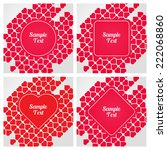 set of templates for text with... | Shutterstock .eps vector #222068860