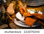 thanksgiving table decoration | Shutterstock . vector #222070243