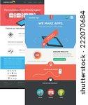 flat designed web templates | Shutterstock .eps vector #222070684