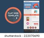 flat designed web template | Shutterstock .eps vector #222070690