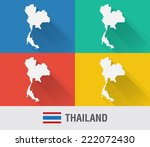 thailand world map in flat...
