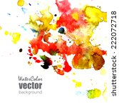 vector card  template with... | Shutterstock .eps vector #222072718