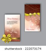 set of christmas greeting cards. | Shutterstock .eps vector #222073174