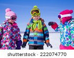 group of children playing on... | Shutterstock . vector #222074770