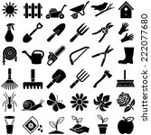 gardening icon collection  ... | Shutterstock .eps vector #222077680