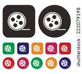 film strip icon. roll film icon | Shutterstock .eps vector #222079198