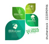 green infographic | Shutterstock .eps vector #222090946