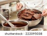 male chef preparing sweets. | Shutterstock . vector #222095038